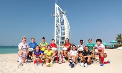 Les 12 capitaines et le trophée de victoire des series à l'hôtel Jumeirah Mina A'Salam