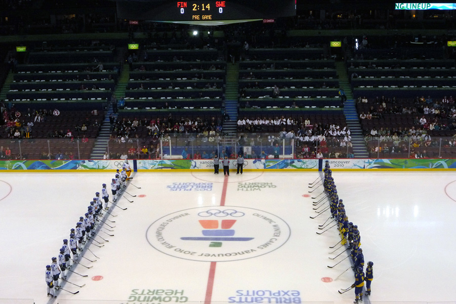 Match pour la médaille de bronze entre la Finlande et la Suède
