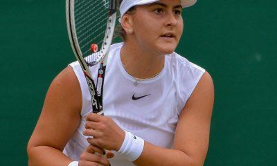 Bianca Andreescu lors du tournoi de Wimbledon en 2017