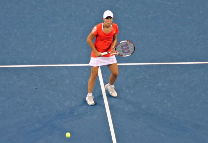 Justine Henin lors de l'US Open 2007