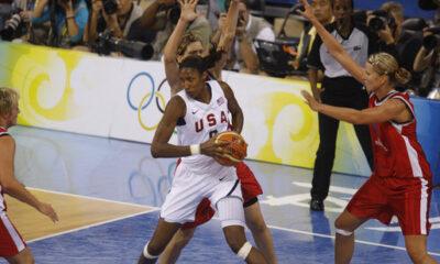 Lise Leslie avec l'équipe des États-Unis aux JO de Pékin en 2008