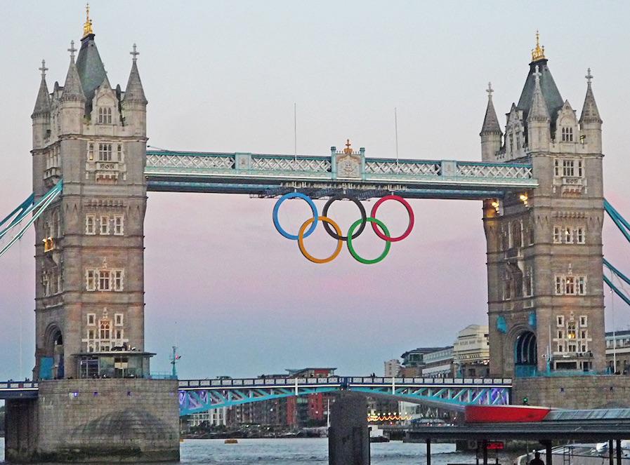 Tower bridge lors des Jeux Olympiques de Londres en 2012