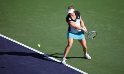 Kim Clijsters au tournoi d'Indian Wells en 2011