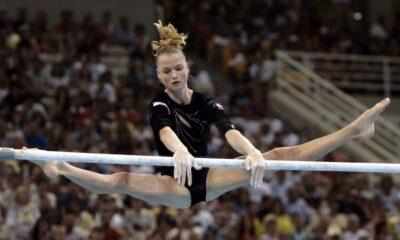 Svetlana Khorkina aux Jeux Olympiques d'Athènes en 2004