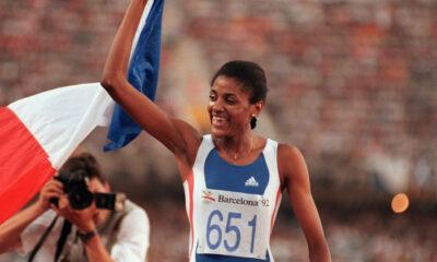 Marie-Josée Pérec aux JO de Barcelone en 1992