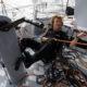 Isabelle Joschke sur son bateau MACSF pour le Vendée Globe 2020